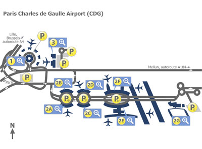 Paris Cdg Airport Map Paris Charles de Gaulle Airport (CDG) Terminal Maps   Map of all
