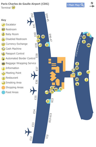 paris charles de gaulle airport map